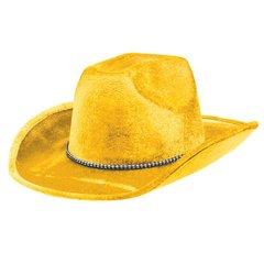 Yellow Velour Cowboy Hat
