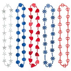 Nautical Bead Necklace, 10ct.