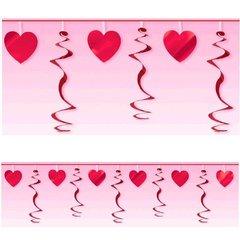 Heart Foil Swirl Garland