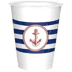 Nautical Plastic Cups