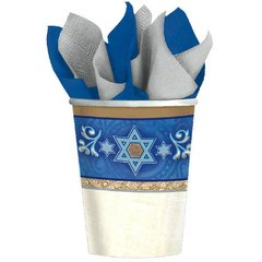 Judaic Traditions Cups, 9 oz.