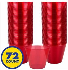 Apple Red Plastic Barware Tumblers