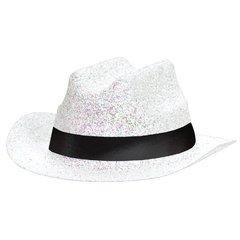 White Mini Glitter Cowboy Hat