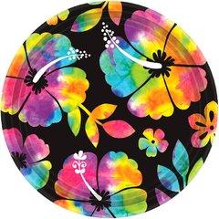 "Neon Paradise Round Plates, 7"""