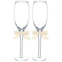 Basic with Ivory Bow Toasting Glass