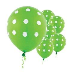 Kiwi Dots All Over Print Latex Balloons