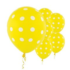 Yellow Dots All Over Print Latex Balloons