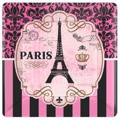 "Day in Paris Square Plates, 7"""