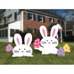 Bunny Yard Sign - Plastic