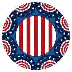 American Pride Round Plates, 7in
