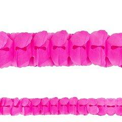 Bright Pink Paper Garland, 12'