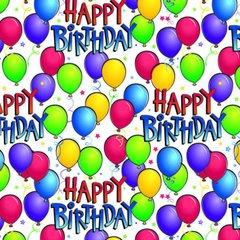 Balloon Bash Gift Wrap w/Hang Tab