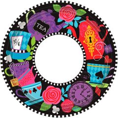 Mad Tea Party Round Plates, 7""
