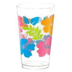 Hibiscus Plastic Tumblers 16oz 25ct