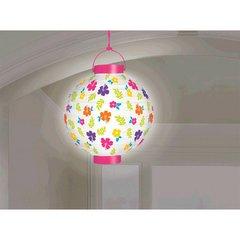 White Hibiscus Light Up Lantern