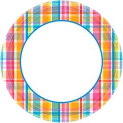 "Bright Border Round Plate, 6 3/4"""