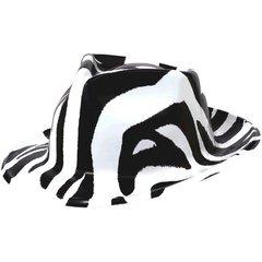 Totally 80's Fedora - Black & White Zebra