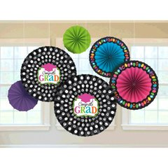 Dream Big Paper Fan Decorations