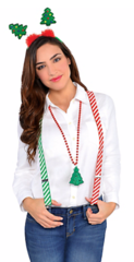 Candy Cane Striped Suspenders