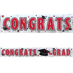 Apple Red Grad Metallic Fringe Banner