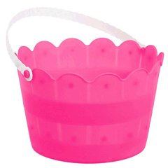 Scalloped Bucket - Bright Pink
