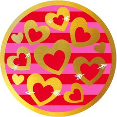 Heart of Gold Round Metallic Plates, 9""