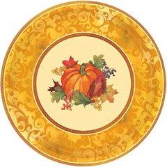"Bountiful Holiday Metallic Plates, 7"""