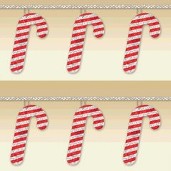 Candy Cane String Garland