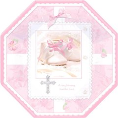 """Tiny Blessing Pink Octagonal Plates, 10"""""""