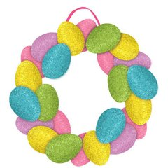 Easter Egg Wreath Sign