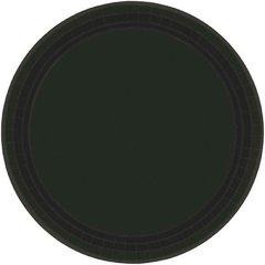 "Jet Black Paper Plates, 7"" 20ct"