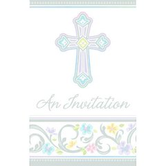 Blessed Day Folded Invitations