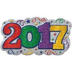 2017 Glitter Vac Form Sign - Jewel Tone