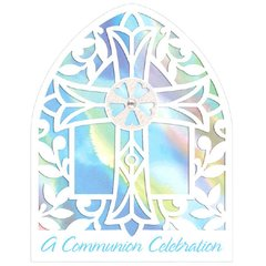 Communion Blue Large Novelty Invitations