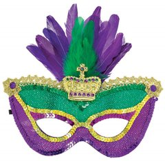 Mardi Gras Sequined Mask