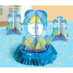 Communion Blue Table Decorating Kit