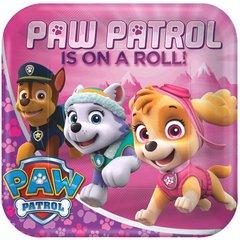 "Paw Patrol™ Girl Square Plates, 9"""