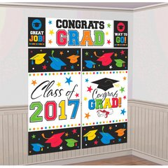 2017 Grad Scene Setter® Wall Decorating Kit - Multicolor