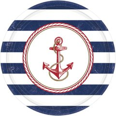 Anchors Aweigh Round Plates, 10 1/2""