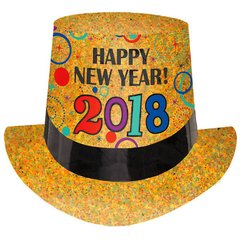 """2018"" New Year's Prismatic Top Hat - Jewel Tone"