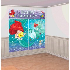 ©Disney Ariel Dream Big Scene Setters® Wall Decorating Kit