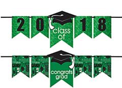 """""""2016-2019"""" Grad Personalized Glitter Letter Banner Kit - Green"""