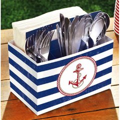 Nautical Paper Utensil Caddy