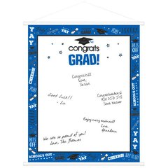 Blue Graduation Sign-In Scroll
