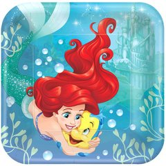©Disney Ariel Dream Big Square Plates, 9""