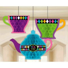 Mad Tea Party Honeycomb Decorations
