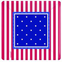 "American Classic Square 7"" Plates"
