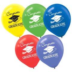 Grad Latex Balloons - Multicolor, 15ct