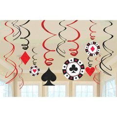 Casino Value Pack Swirl Decorations