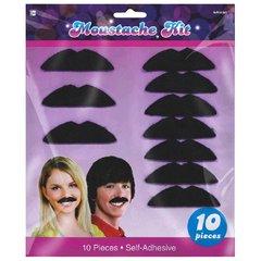 Black 70's Mustaches